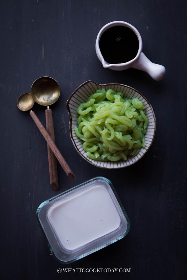 Es Cendol / Dawet (Pandan Jelly Dessert)
