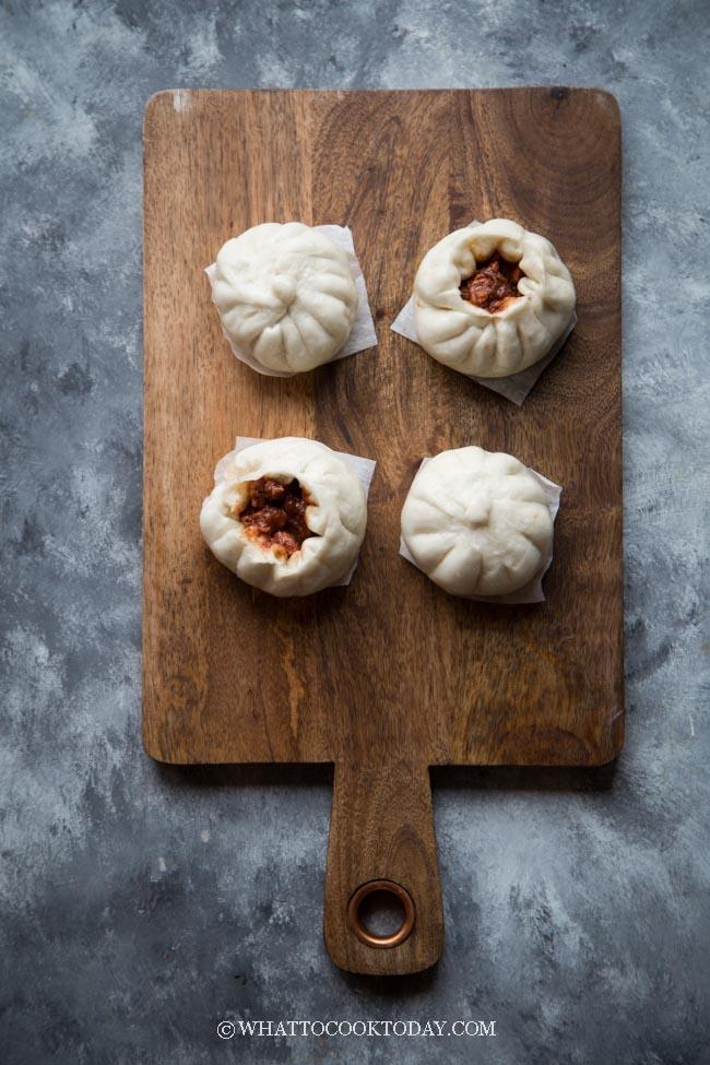 Soft Fluffy Char Siu Bao (Chinese Steamed Pork Buns)