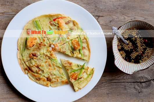 SEAFOOD AND SCALLION PANCAKE