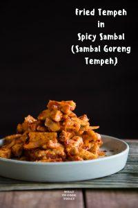 Sambal Goreng Tempeh (Fried Tempeh in Spicy Sambal)