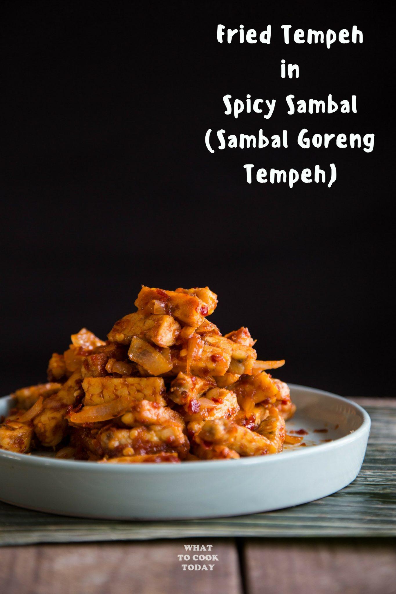 Sambal Goreng Tempeh (Fried Tempeh in Spicy Sambal) #tempeh #sambal #spicyfood