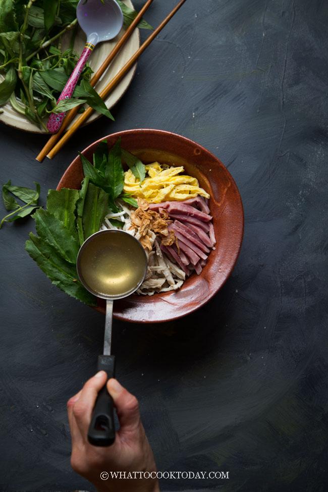 Pressure Cooker Bun Thang (Hanoi Combo Noodle Soup)