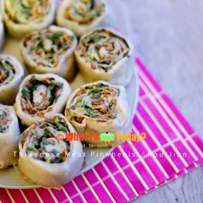 TAIWANESE MEAT PINWHEELS / ROU JIAN
