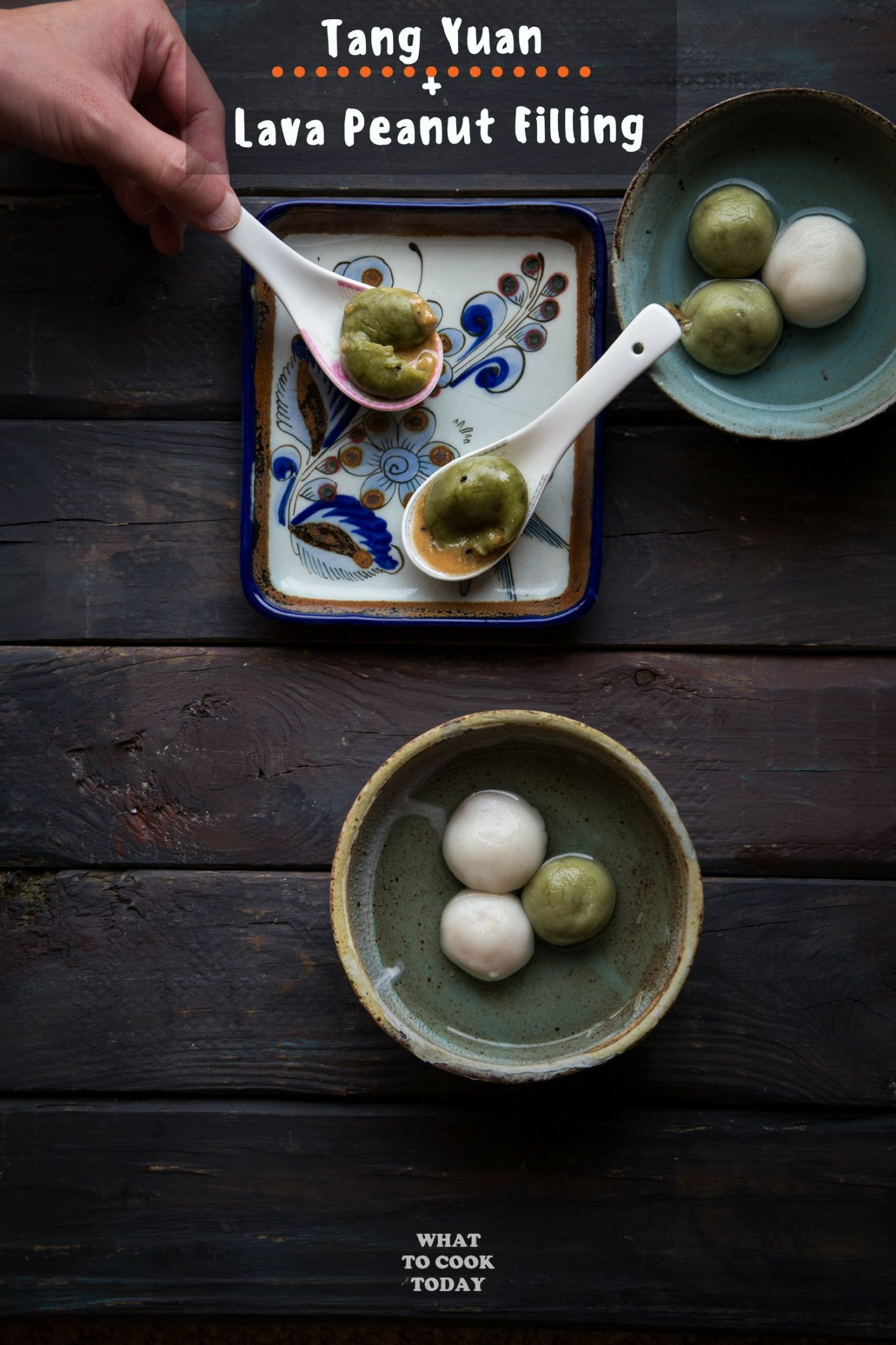 Tang Yuan with Lava Peanut Filling #tangyuan #peanut #chinesefood #dessert