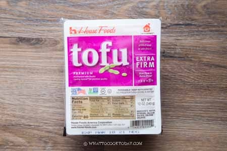 How to freeze tofu block