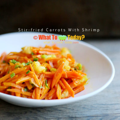 STIR-FRIED CARROTS WITH SHRIMP