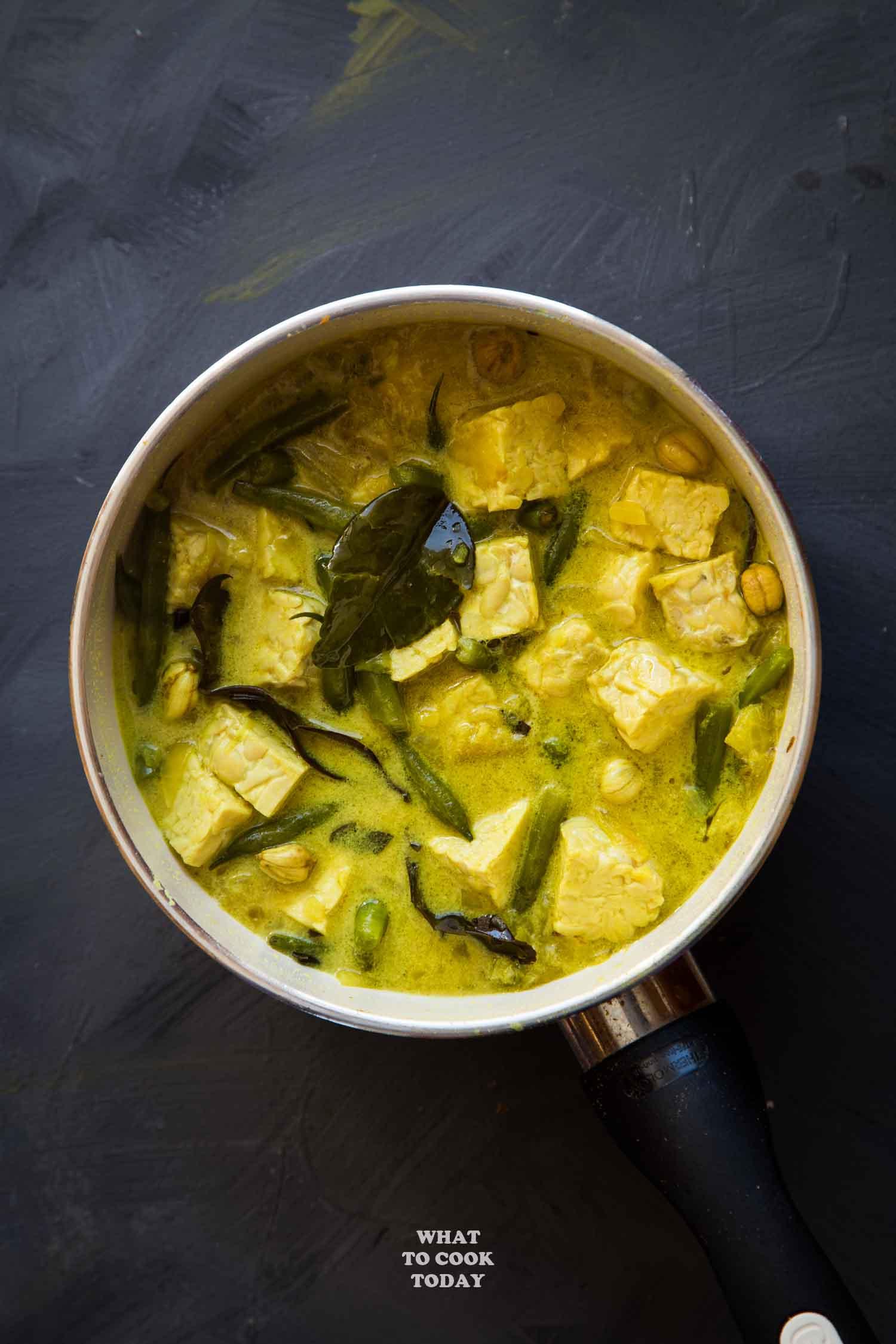 Gulai Tempeh (Tempeh Stew) #tempeh #glutenfree #vegan #dairyfree