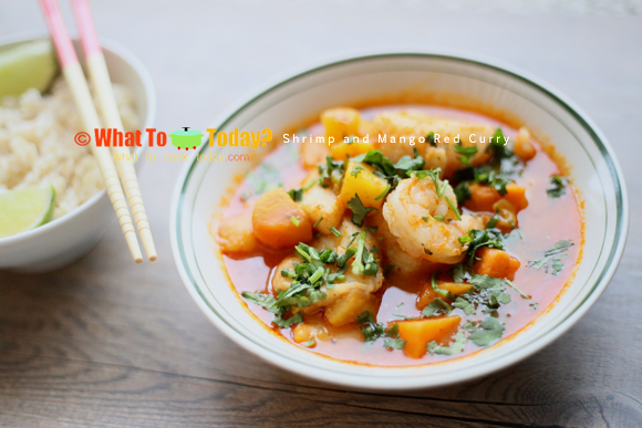 SHRIMP AND MANGO RED CURRY