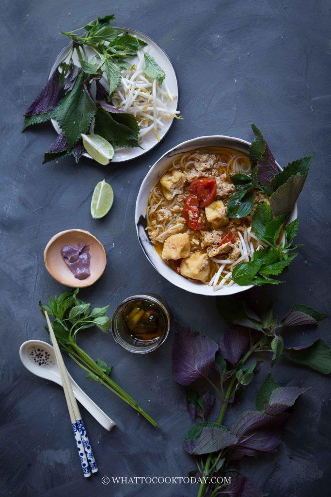 Easy Delicious Bun Rieu Cua (Vietnamese Crab Noodle Soup)