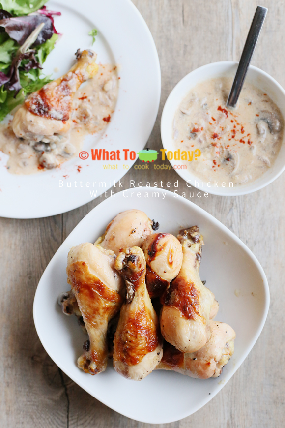 BUTTERMILK ROASTED CHICKEN WITH CREAMY SAUCE