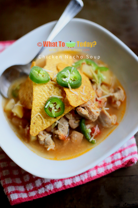CHICKEN NACHO SOUP