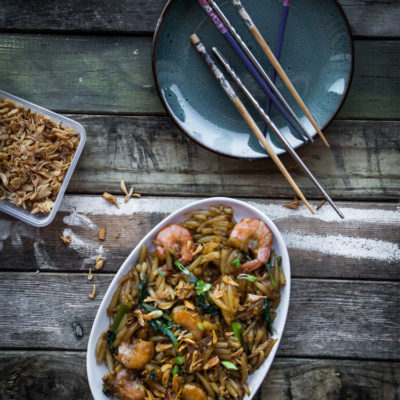 Stir-fried Mee Tai Mak / Bee Tai Mak (Rice Pin Noodles)