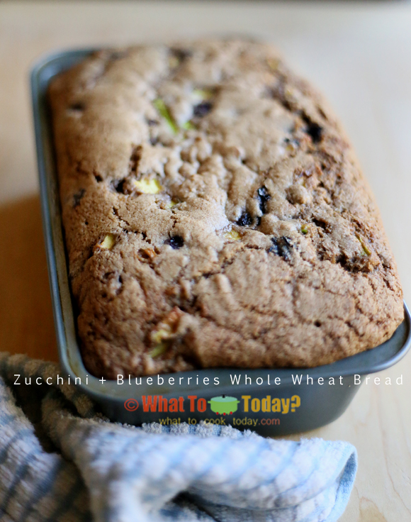 Zucchini and Blueberry whole wheat bread