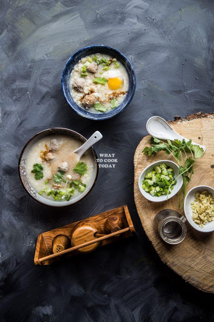 Thai Rice Soup (Khai Tom)