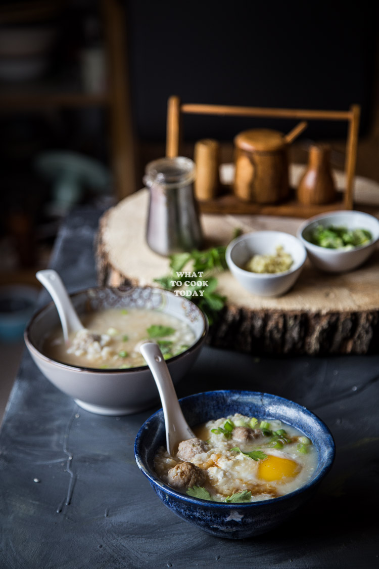 Thai Rice Soup (Khai Tom)