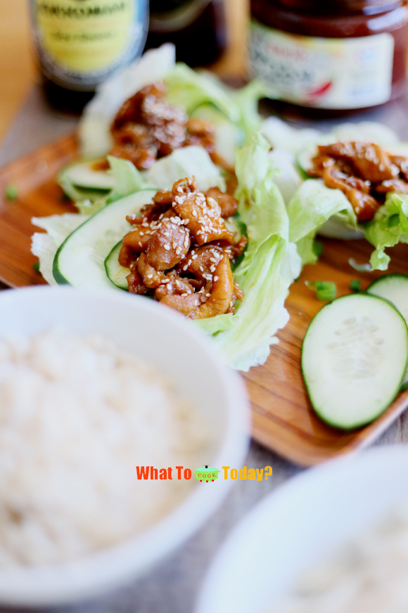 KOREAN CHICKEN WITH LETTUCE WRAP