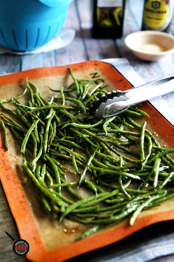 ROASTED FRENCH BEANS WITH ASIAN FLARE