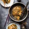 Japchae (Korean Sweet Potato Glass Noodle Stir fry)