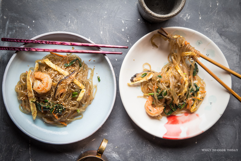 How to make Japchae (Korean Sweet Potato Glass Noodle Stir-fry). Delicious Easy Perfect for Weeknight Japchae (Korean Sweet Potato Glass Noodle Stir-fry) recipe. Click through for full recipe and step by step instructions