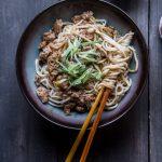 Zha Jiang Mian (Noodles in soybean sauce)
