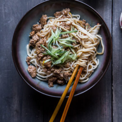 How To Make Zha Jiang Mian (Noodles in Meat Sauce)