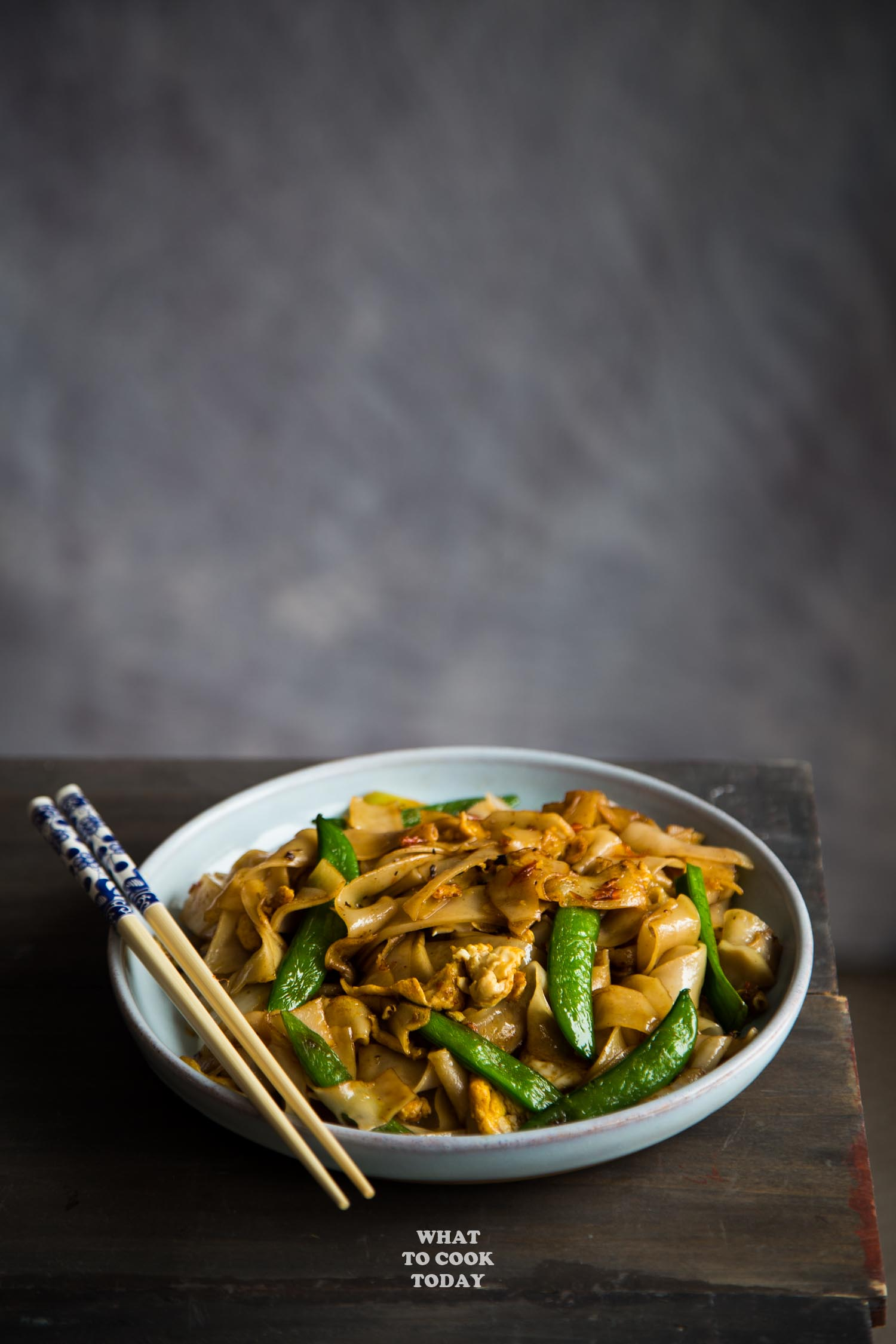 Easy and Quick Stir-fried Flat Rice Noodles with Chili Bean Sauce