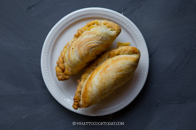 Spiral Curry Puff - Karipap Pusing - Karipok (Baked or Fried)