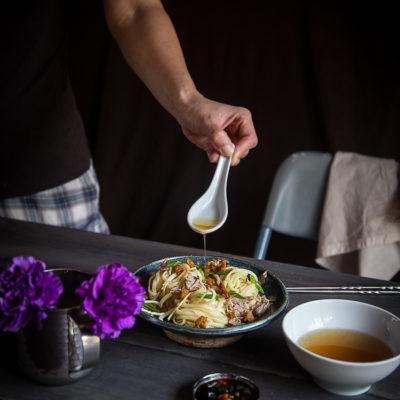 Bakmi Khek Medan/Hakka Pulled Pork Noodles with Cracklings