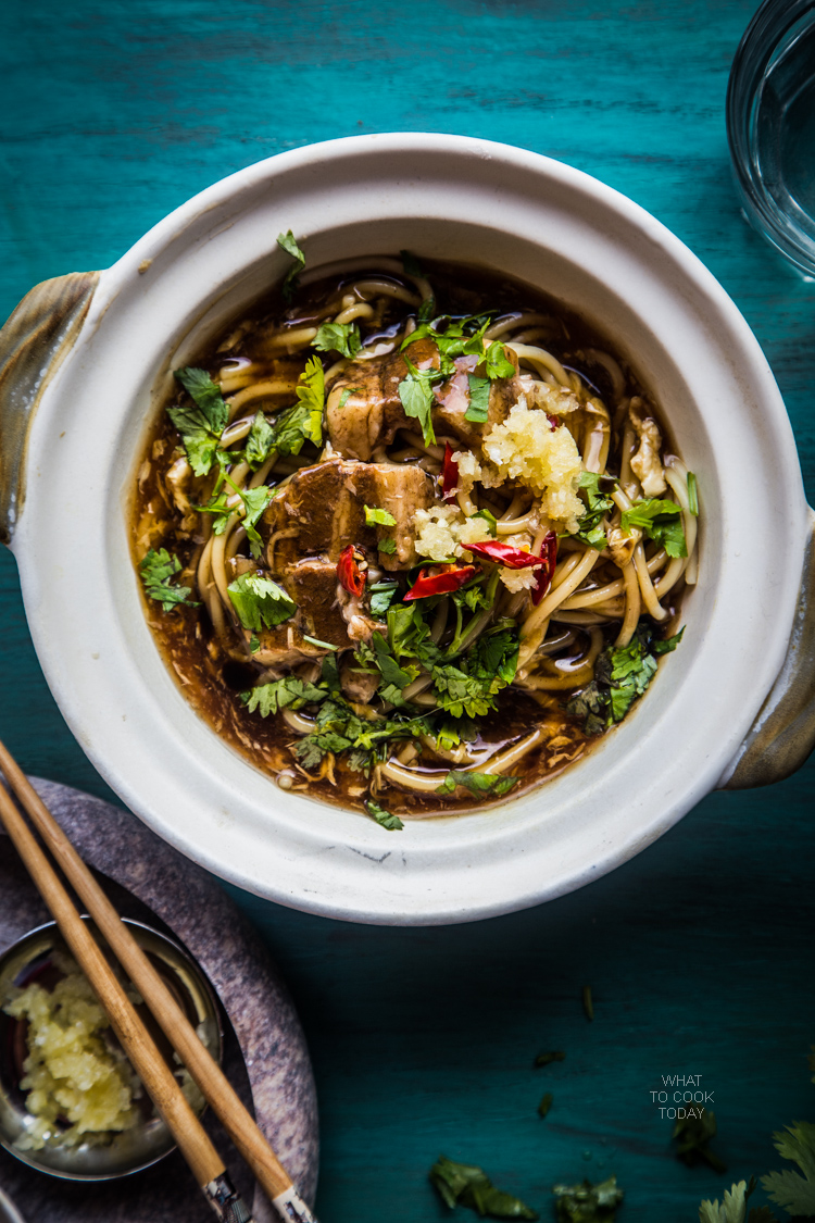 Singaporean lor mee (braised noodles).My favorite noodles when I lived in Singapore and I'm happy with this recipe