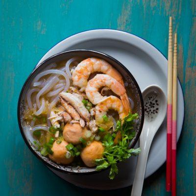 Bánh Canh Cua Tôm (Crab and Shrimp Tapioca Noodle Soup)