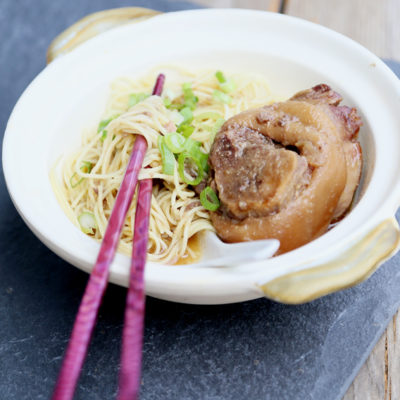 NOODLES WITH SLOW-COOKED PORK HOCKS