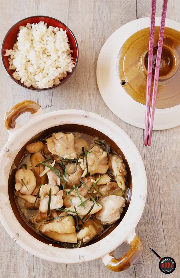CLAY POT CHICKEN WITH GINGER AND LIME LEAVES