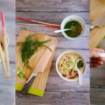 noodle with bambooshoots and dill lime sauce