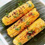 grilled corn with sweet spicy sauce/ jagung bakar pedas manis