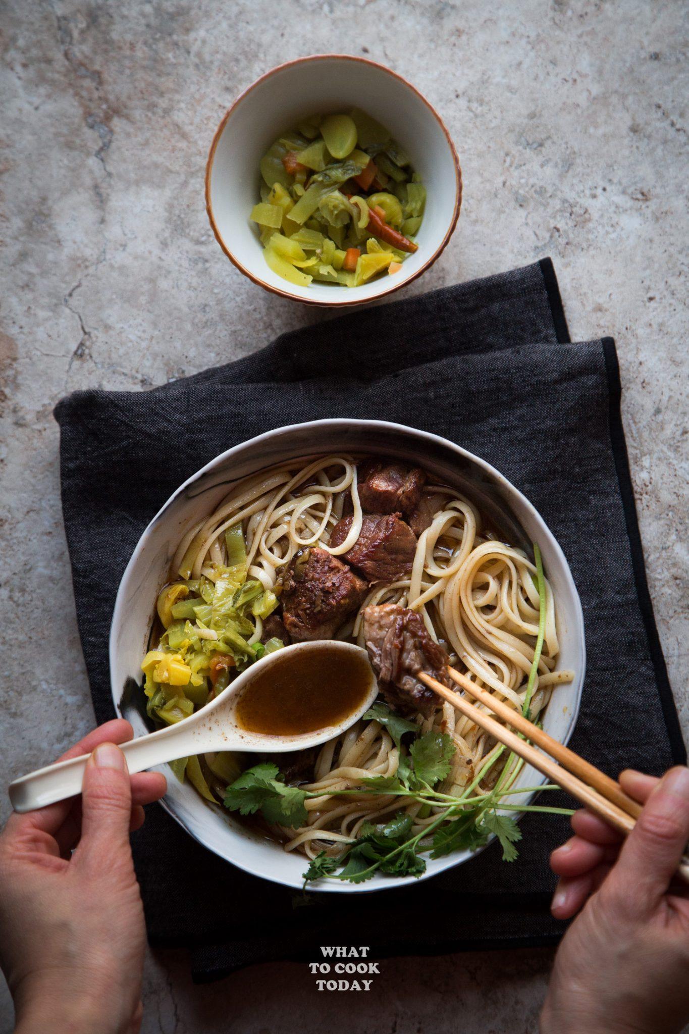 Taiwanese beef noodle soup(niu rou mian) #instantpot #beef #noodlesoup