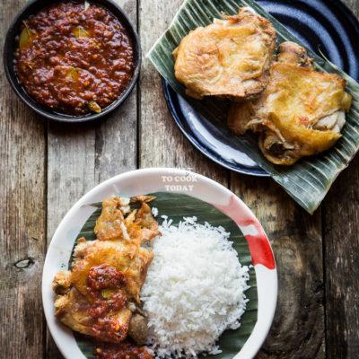 Ayam Penyet (Indonesian Smashed Fried Chicken)