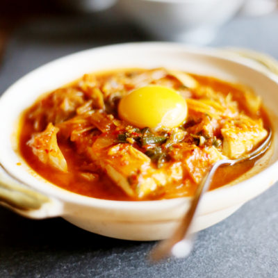 Korean Tofu with kimchi stew