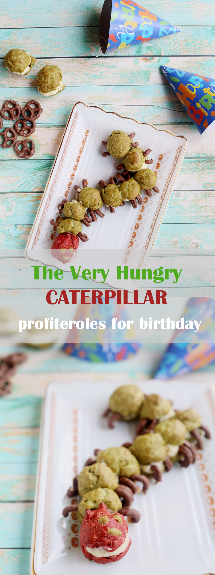 The very hungry Caterpillar Profiteroles