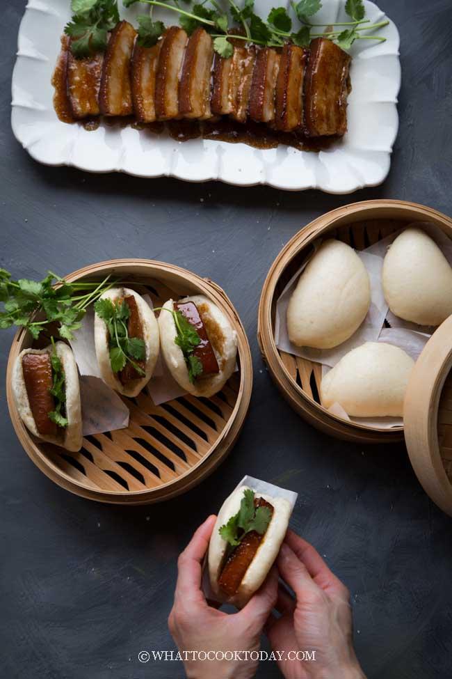 Kong Bak Pau (Braised Pork Belly Steamed Buns)