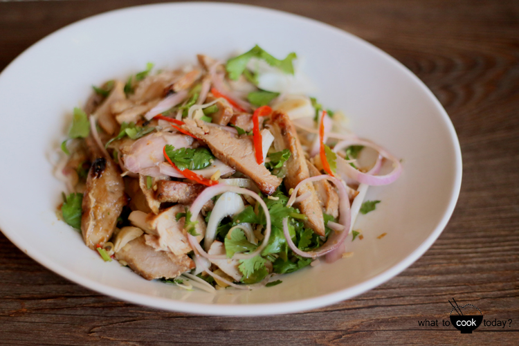 Turkey Salad with Thai dressing