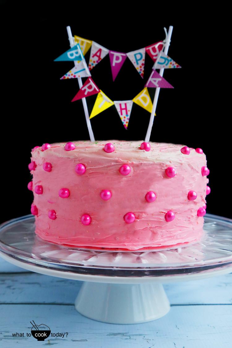 Easy Birthday Rainbow Cake