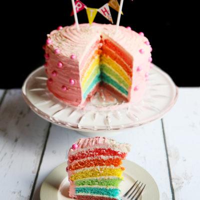 Rainbow cake that will brighten up anyone's life