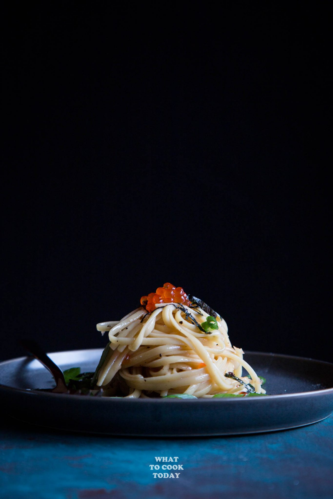 Buttery Pasta with Salmon Fish Roe