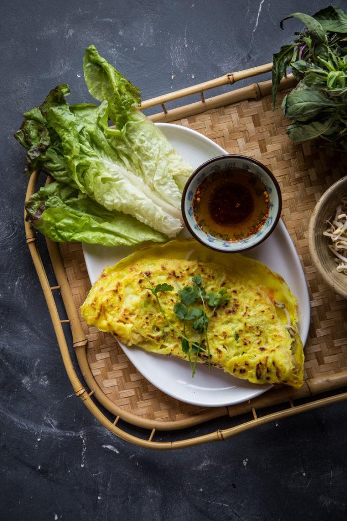 Vietnamese Sizzling Crepes (Banh Xeo)