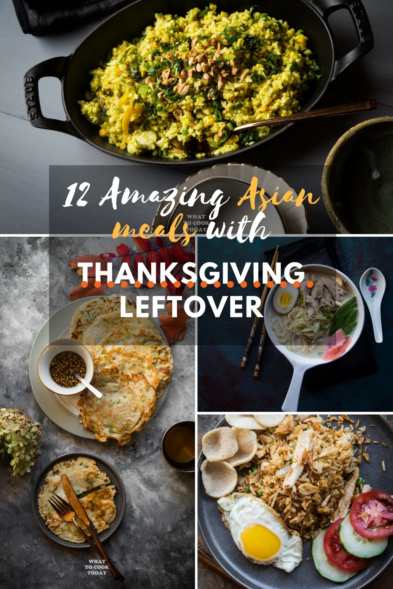 12 Amazing Asian meals with Thanksgiving leftover meat