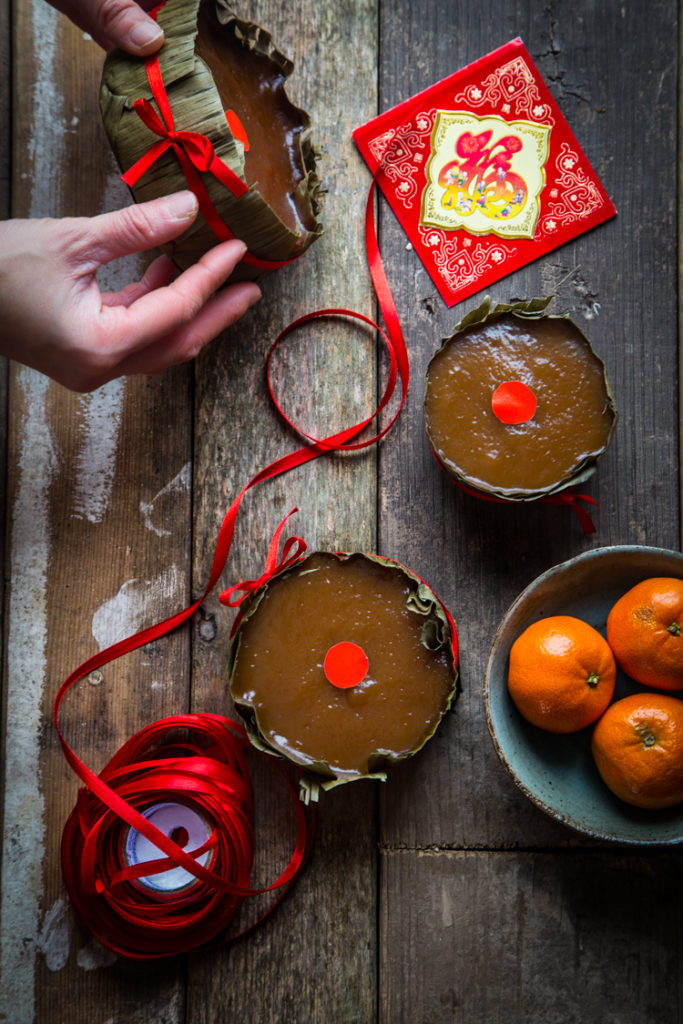 Traditional Lunar New Year Nian Gao (sweet sticky rice cake)
