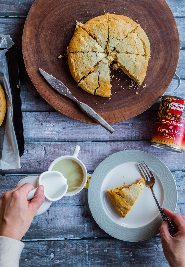 The ultimate cheesy corned beef hash scones #HowDoYouHash [ad]