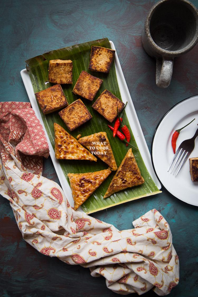 Tahu dan Tempe Bacem (Braised Spiced Tofu and Tempeh)