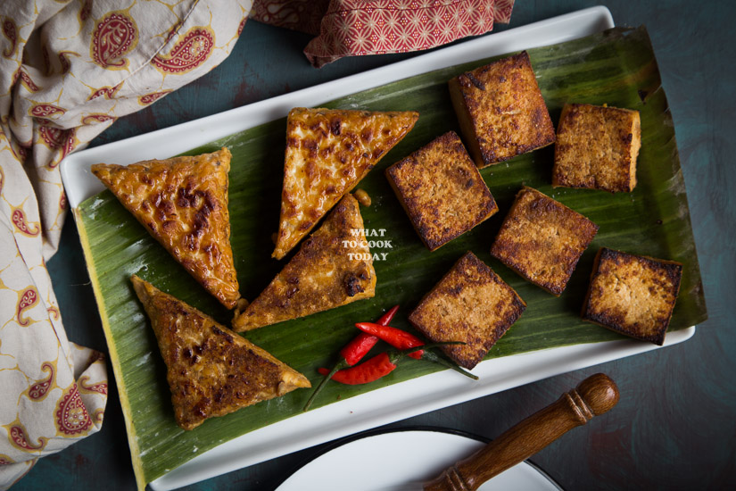 Tahu dan Tempe Bacem (Braised Spiced Tofu and Tempeh)
