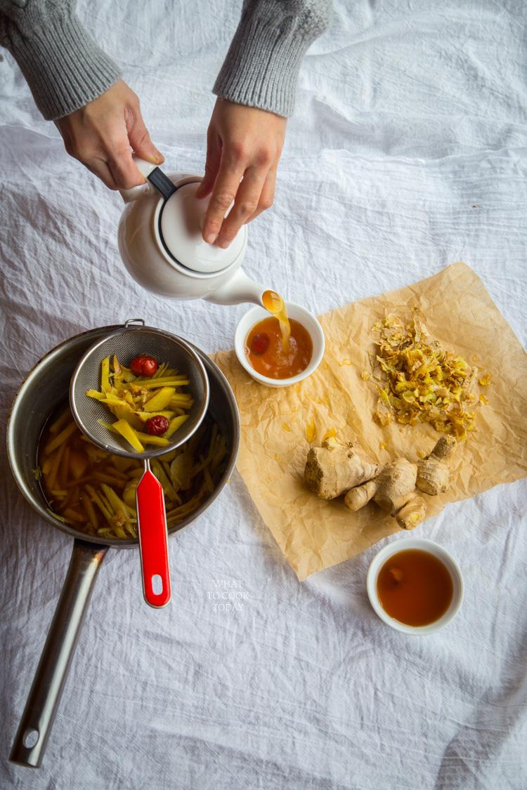 Ginger dates tea #ginger #tea